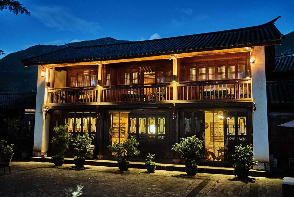 Shaxi Old Theatre Inn reception building - Shaxi Yunnan China